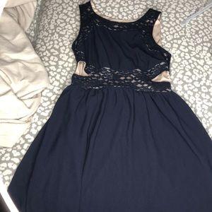 Navy Blue Cut on side dress